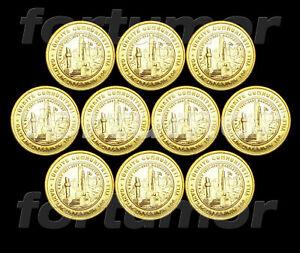 Turkey 1 Lira 2021 100th Year Awarding Veterans to Gaziantep 10 PCS Coin Bimetal