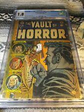 Vault Of Horror #32 - CGC 1.8 - Atom Age Pre Code Horror Censored Cover 1953