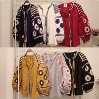 2019 Womens flower Embroidery Puff Sleeve Bohemian Blouse Shirt Top shirts tops