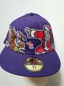 FESTIVE FEUD Size 7 5/8 New Era 59Fifty Turkey vs. Santa Fitted Wool Cap Hat