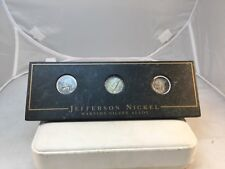 New listing Jefferson Nickel Wartime Silver Nickel Alloy Set Of 3 In Cased 1945D/1943S/1943P