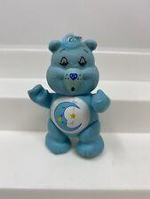 Vintage 1983 Care Bears BEDTIME BEAR Poseable Figure Moon Star Belly Blue
