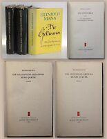 3 Bände Heinrich Mann Romane Henri Quatre Die Göttinnen 1956/57 Klassiker xz