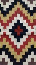 Handmade Southwestern Wool Geometric Rug Mat Unfinished Woven