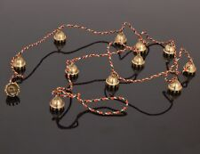 """Beautiful Chime with Ten Polished Brass Bells about 1"""" High on a 40"""" String"""