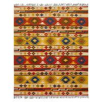 Traditional Moroccan Kilim Rug Flat Woven Wool Berber Carpet Area Rug 5x8
