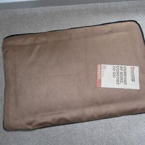 "BIG SHRIMPY - Dog Bed - Crate Mat - Landing Pad - Large 22"" x 33"" -Colour Walnut"