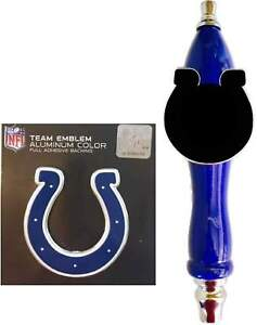 Colts Football Emblem & Beer Tap Handle for Kegerator Faucet KIT