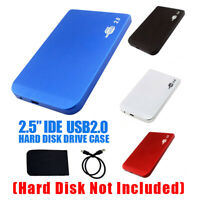 "USB 2.0 To IDE HDD 2.5"" Hard Drive Disk Aluminum External Case Enclosure Box"
