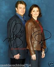 "Castle the ABC TV Show 8x10"" reprint Signed Photo #1 RP Kate Beckett & Richard"