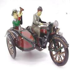 MS804 Vintage Motorcycle with Passenger in Sidecar Retro Wind Up Tin Toy