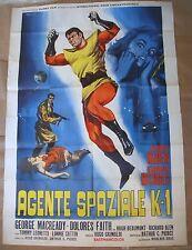 "HUMAN DUPLICATORS Agente Spaziale K1 Italian 2 Panel Movie Poster 55x78"" 1964 NM"