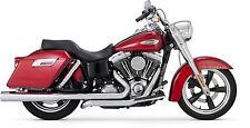 "x2 ""Switchback"" CHROME decal for fender or saddle bag fits Harley Davidson Bikes"