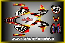 Suzuki RMZ450 08-16   SEMI CUSTOM GRAPHICS KIT MOTO XB
