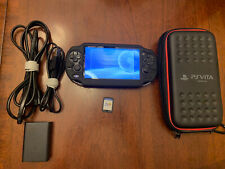 Sony PlayStation PS Vita PCH- 1001 Black Handheld (W/ Game, Case, Charger)