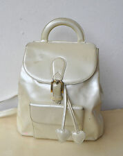 MOSCHINO Uber Rare Opalescent Patent Leather Backpack Bag Redwall 453142 Italy