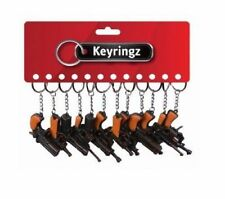 Porte-clés noirs en métal pour homme