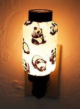 NWT Cute Panda Bear Hand Made Oriental Lantern Night Light Lamp Nightlight