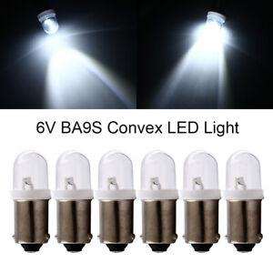 100Pcs DC 6V 6.3V T11 T4W BA9S H6W 1895 1SMD LED Convex Pinball Light Bulbs