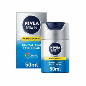Nivea Men Active Energy Skin Revitaliser Face Cream 50ml FREE UK DELIVERY