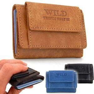 Klein Leder Geldbörse Minibörse - Small Wallet - kompakt Geldbeutel Portemonnaie