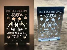 Personalised Our 1st First Christmas Together Decoration Candle Holder Gifts