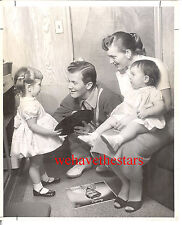 Vintage Pat Boone & Family '57 EARLY CANDID Publicity Portrait
