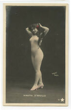 c 1904 Ninette French CUTE NUDE Body Stocking undivided back photo postcard