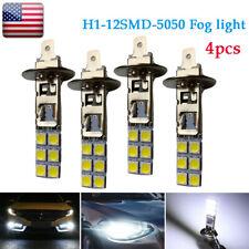 New listing 4X Led Fog Driving Light Headlight Bulbs Kit H1 6000K Super White 55W 12Smd-5050