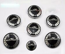 7pcs AC SCHNITZER Car Badge Front Hood Emblem+Rear Emblem+4 Wheel Hub Caps Wheel