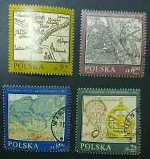 POLAND STAMPS Fi2696-99 Sc2550-53 Mi2844-47 - Polish cartography, 1982, used