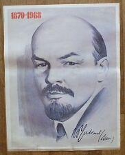 1987 USSR RUSSIA POSTER LENIN BIRTHDAY HOLIDAY PORTRAIT SOCIALISM AGITATION SIGN