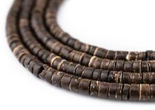 Chocolate Heishi Coconut Shell Beads 5mm Brown Wood 22 Inch Strand