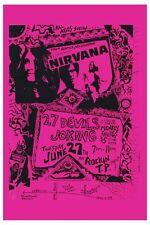 Nirvana at Rockin T.P. Santa Fe New Mexico Poster 1989 Large Format 24x36