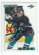 Joe Sacco Signed 1995/96 Pinnacle Card #68