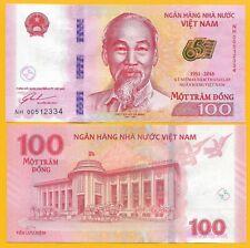 Vietnam Viet Nam 100 Dong p-125 2016 Commemorative UNC Banknote