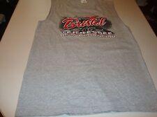 Mens Jerzees Sleeveless T-Shirt Size XL and M Gray Bristol TN Racing Hvywgt Cot