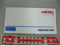AO595-0,5# Märklin Spur 1 Anweisung Maxi 5450/5452/5454 für Dampflok