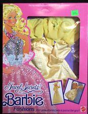 "Barbie 1986 ""Jewel Secrets"" Fashions #1861 Sparkling Yellow Gown - Nrfb"