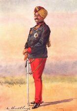 INDIAN ARMY. 42nd Deoli Rgt Hon Maj Umed Singh Bahadur Maharao Kota Rajput 1911