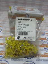 0409700000,  Wire end ferrule, 1 mm², 6 mm, Colour code: Yellow 500/