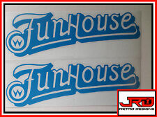 2 x FunHouse Vinyl Stickers