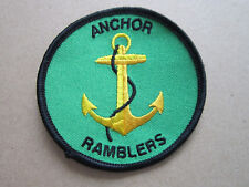 Anchor Ramblers Walking Hiking Cloth Patch Badge (L3K)