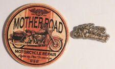 Lot of 2 Magnets HARLEY DAVIDSON Route 66 MOTHERROAD Motorcycle USA Fridge