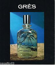 PUBLICITE ADVERTISING 055  1975  GRES  parfum femme CABOCHARD 2