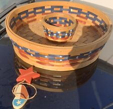 Chips & Dip Basket 4th Of July Patriotic Fourth Veterans Memorial Day Bbq Picnic