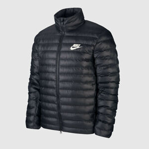 NIKE SPORTSWEAR - SYNTHETIC FILL PUFFER JACKET - BLACK - SIZE M - AUTHENTIC!