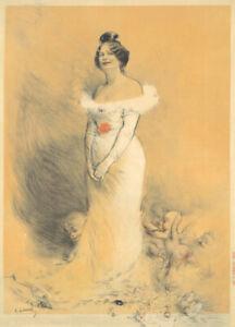 Original Vintage Affiche Leandre Laurence Deschamps 1900 Français