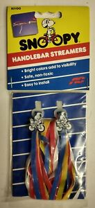 Vintage NOS Snoopy bicycle bike handlebar streamers Raleigh Chopper Grifter BMX