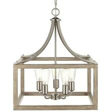 Home Decorators Collec. Boswell Quarter 20 in. 5-Light Brushed Nickel Chandelier